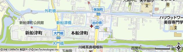 福岡県柳川市保加町周辺の地図