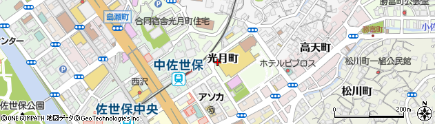 長崎県佐世保市光月町周辺の地図