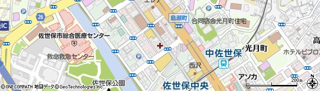 長崎県佐世保市栄町周辺の地図
