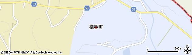 長崎県佐世保市横手町周辺の地図