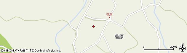 大分県玖珠郡九重町菅原466周辺の地図