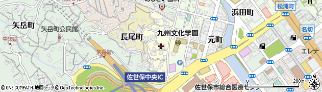 長崎県佐世保市泉町周辺の地図