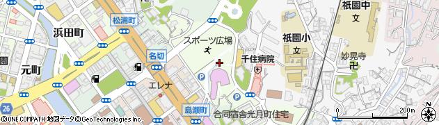 長崎県佐世保市宮地町周辺の地図