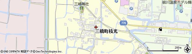 福岡県柳川市三橋町枝光周辺の地図