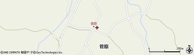 大分県玖珠郡九重町菅原405周辺の地図