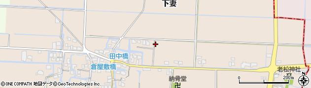 福岡県筑後市下妻周辺の地図