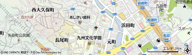 長崎県佐世保市上町周辺の地図