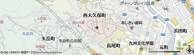 長崎県佐世保市西大久保町周辺の地図