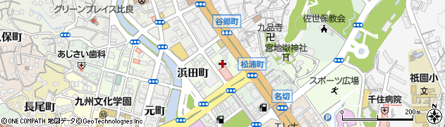 長崎県佐世保市浜田町周辺の地図