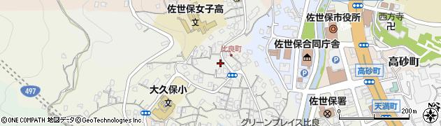 長崎県佐世保市比良町周辺の地図