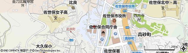 長崎県佐世保市木場田町周辺の地図