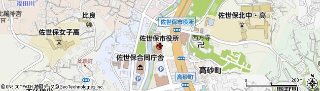 長崎県佐世保市周辺の地図