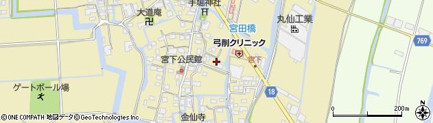 福岡県柳川市間周辺の地図
