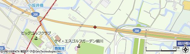 一般国道208号周辺の地図