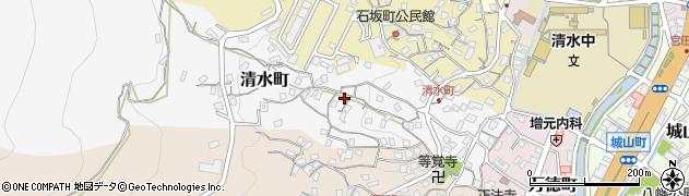 長崎県佐世保市清水町周辺の地図