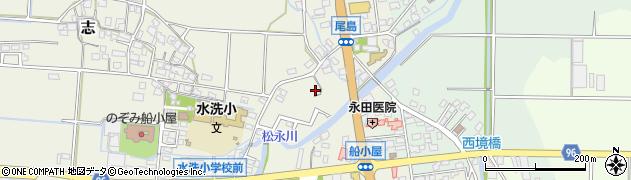 福岡県筑後市尾島周辺の地図
