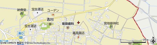 福岡県筑後市溝口周辺の地図
