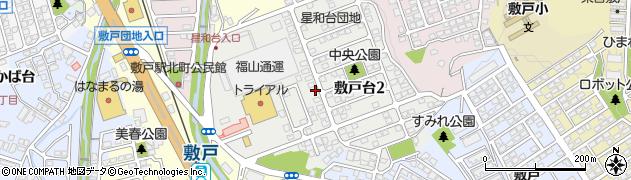 大分県大分市敷戸台周辺の地図