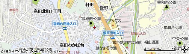 大分県大分市寒田(寒田わかば台)周辺の地図