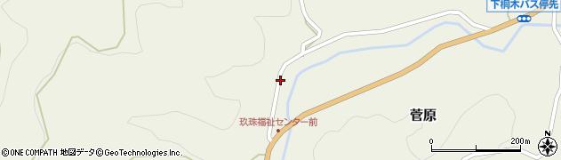 大分県玖珠郡九重町菅原1542周辺の地図