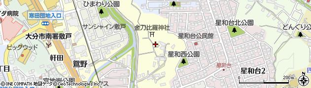 大分県大分市鴛野(鴛野)周辺の地図