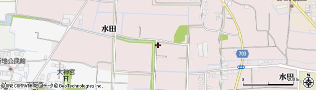 福岡県筑後市水田周辺の地図