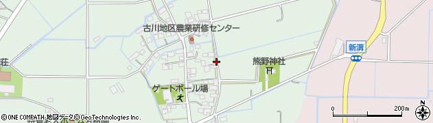 福岡県筑後市鶴田周辺の地図