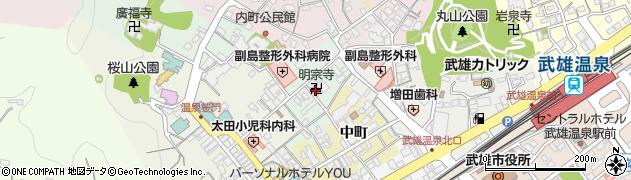 明宗寺周辺の地図