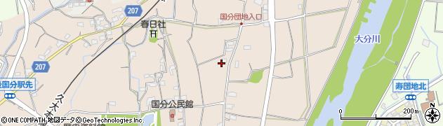 大分県大分市国分周辺の地図