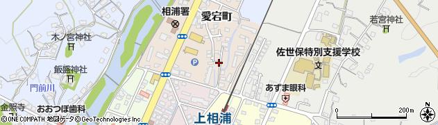 長崎県佐世保市愛宕町周辺の地図