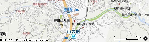 長崎県佐世保市春日町周辺の地図