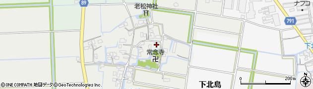福岡県筑後市古島周辺の地図