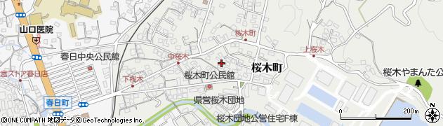 長崎県佐世保市桜木町周辺の地図