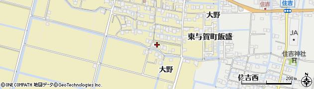 佐賀県佐賀市大野三区周辺の地図