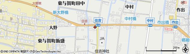 佐賀県佐賀市住吉東周辺の地図