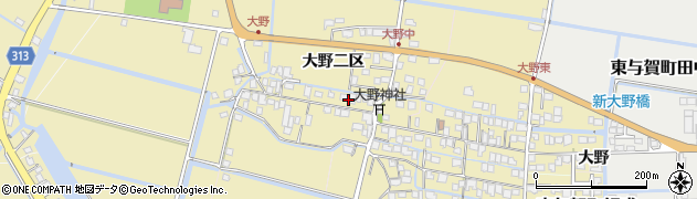 佐賀県佐賀市大野二区周辺の地図
