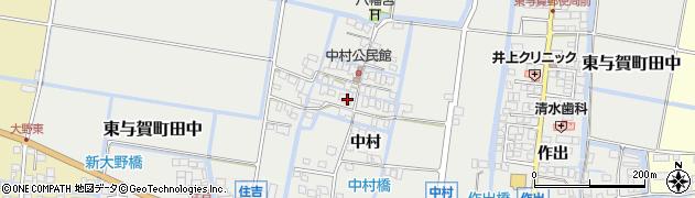 佐賀県佐賀市中村周辺の地図