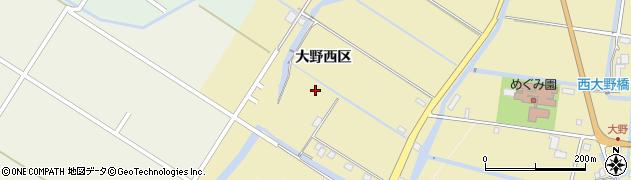 佐賀県佐賀市大野西区周辺の地図