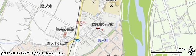 大分県大分市中尾(脇)周辺の地図
