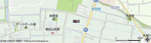 福岡県筑後市島田周辺の地図