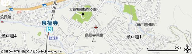 長崎県佐世保市瀬戸越周辺の地図