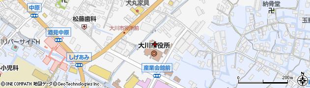 大川市役所 企画課・地方創生推進係周辺の地図