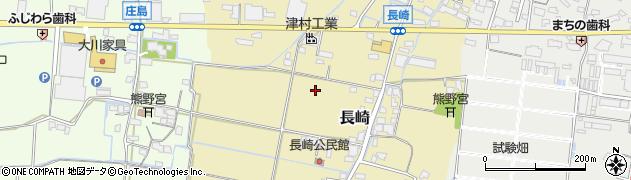 福岡県筑後市長崎周辺の地図
