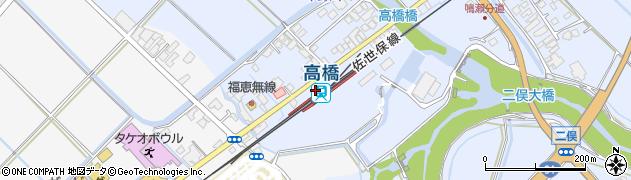 佐賀県武雄市周辺の地図