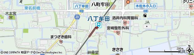 福岡県三潴郡大木町周辺の地図