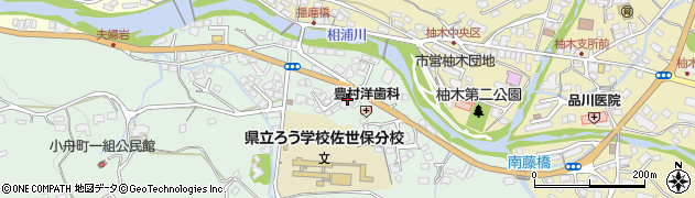 長崎県佐世保市小舟町周辺の地図