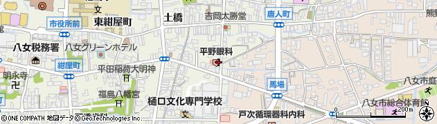 平野眼科医院周辺の地図