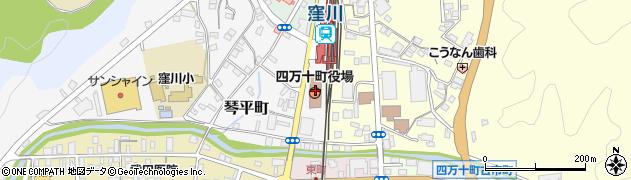 高知県高岡郡四万十町周辺の地図