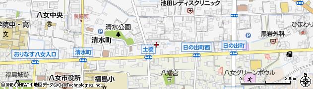 西日本シティ銀行八女支店周辺の地図
