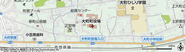 佐賀県大町町(杵島郡)周辺の地図